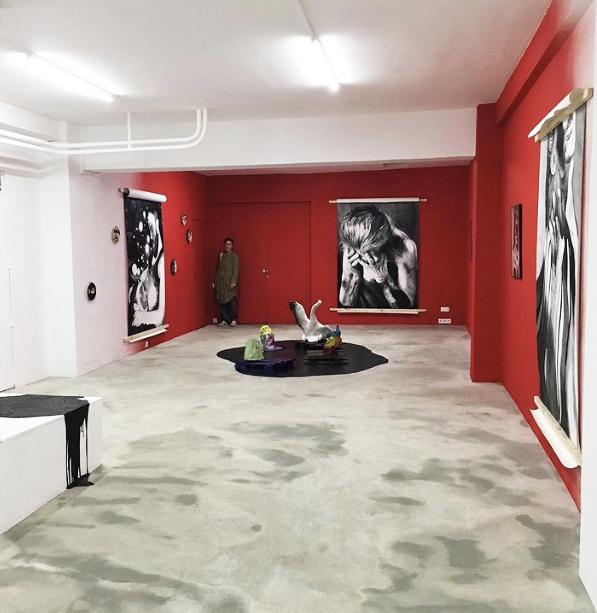 Myriam Mechita, vue de l'exposition au narcissio, 2021