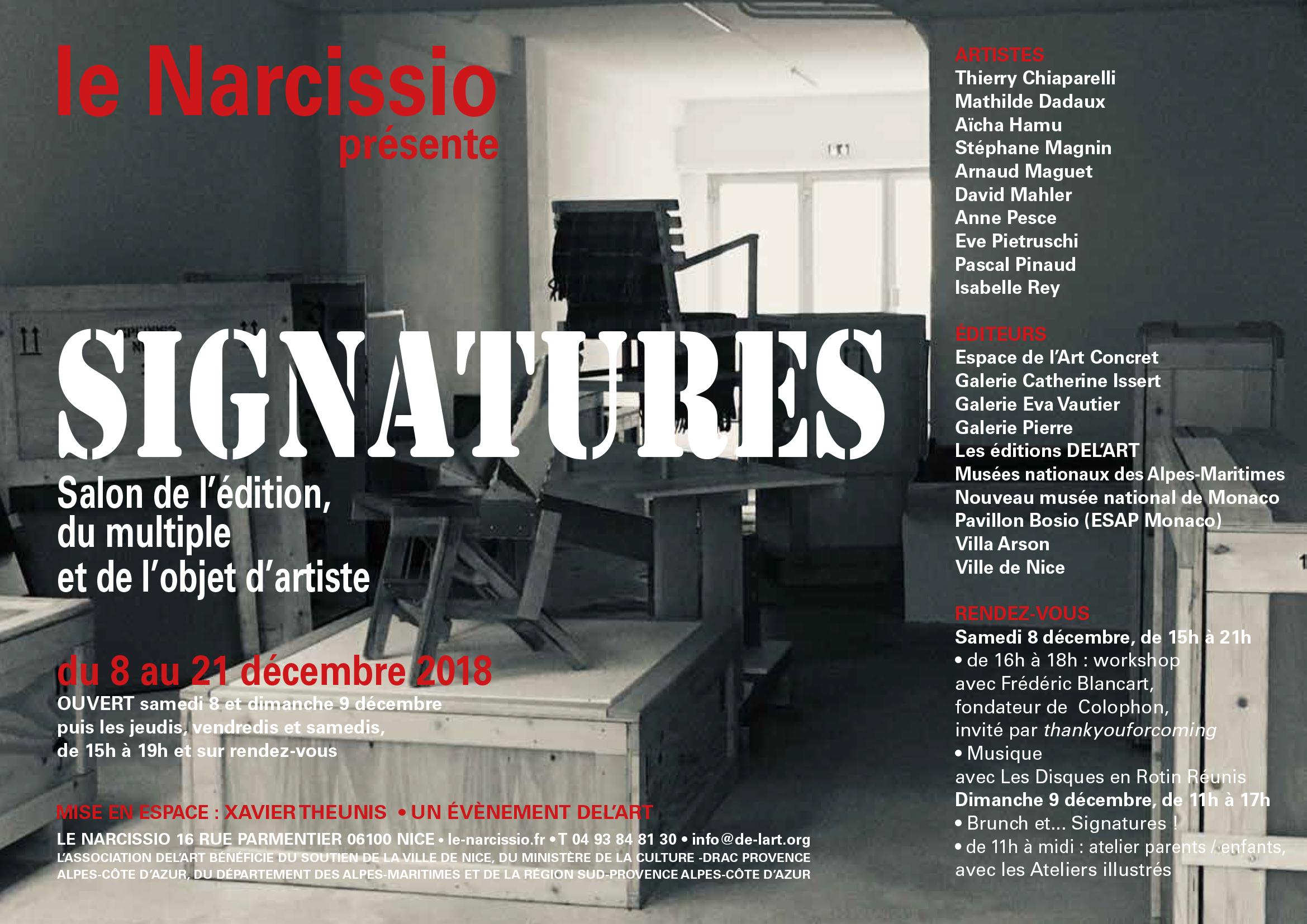 Signatures 2018, le Narcissio