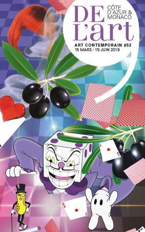 Julie Bena, DEL'ART #52, expositions Côte d'Azur et Monaco, 15 mars-15 juin 2019